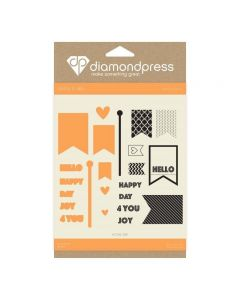 Diamond Press Stamp and Dies - Happy Day for You
