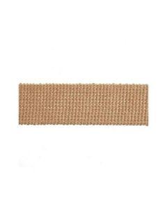 Webbing: Cotton Acrylic: 1m x 30mm: Tan