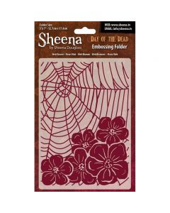 """Sheena Douglass Perfect Partners Day of the Dead 5""""x7"""" - Web Flowers"""