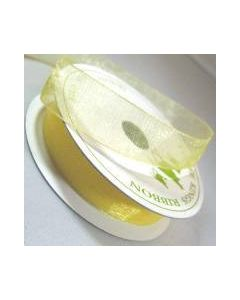Three Kings Baby Maize organza ribbon - 15mm