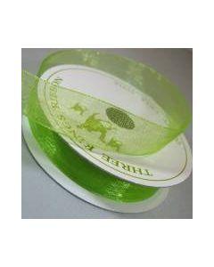 Three Kings Lime organza ribbon - 15mm