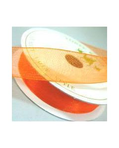 Three Kings Pumpkin organza ribbon - 15mm