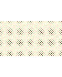 Makower Twelve Days Fabric - Christmas Multi Dot