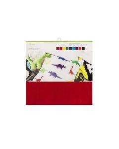 """Cricut 12"""" x 12"""" Felt Sampler (10 Pack) - Carousel"""