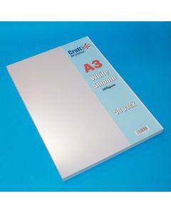 Craft UK 50 A3 Smooth Card - White