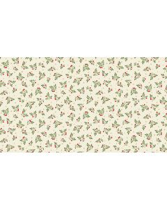 Makower Deck the Halls Fabric - Leaf Spray Cream