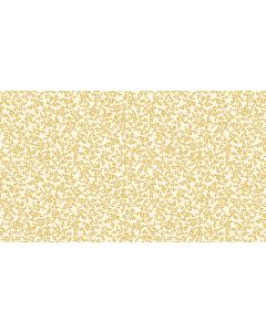 Makower Deck the Halls Fabric - Metallic Leaves Cream