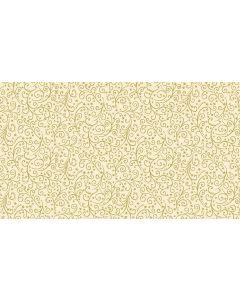 Makower Twelve Days Fabric - Metallic Scroll Cream