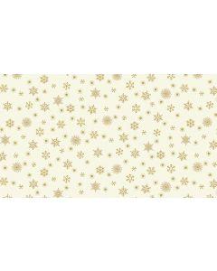 Makower Twelve Days Fabric - Snowflakes Cream