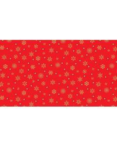 Makower Twelve Days Fabric - Snowflakes Red