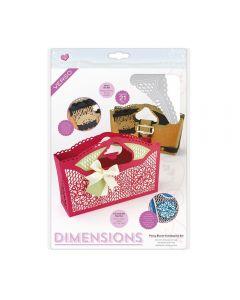 Tonic Studios Dimensions Handbag Gift Bag Die Set - Peony Bloom