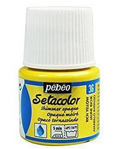 Pebeo Setacolour Shimmer Paint 45ml  - Rich Yellow