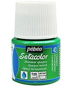 Pebeo Setacolour Shimmer Paint 45ml  - Chlorophyll