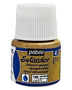 Pebeo Setacolour Shimmer Paint 45ml  - Gold