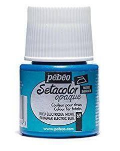 Pebeo Setacolour Shimmer Paint 45ml  - Electric Blue