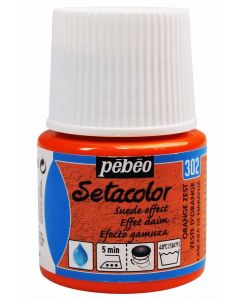 Pebeo Setacolor Opaque Suede Effect Fabric Paint - Orange Zest