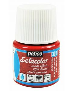 Pebeo Setacolor Opaque Suede Effect Fabric Paint - Mystic Red