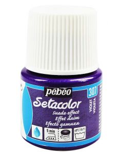 Pebeo Setacolor Opaque Suede Effect Fabric Paint - Violet