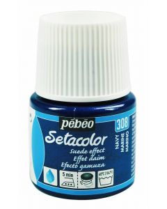 Pebeo Setacolor Opaque Suede Effect Fabric Paint - Navy