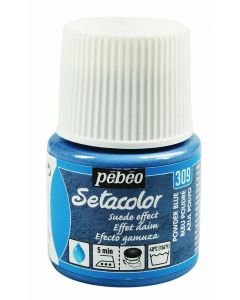 Pebeo Setacolor Opaque Suede Effect Fabric Paint - Powder Blue