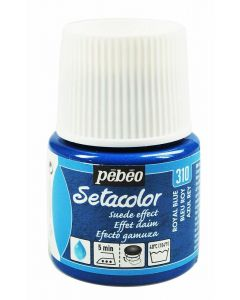 Pebeo Setacolor Opaque Suede Effect Fabric Paint - Royal Blue