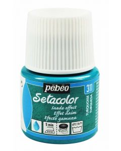Pebeo Setacolor Opaque Suede Effect Fabric Paint - Turquoise