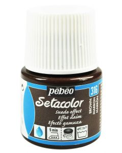 Pebeo Setacolor Opaque Suede Effect Fabric Paint - Brown