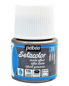 Pebeo Setacolor Opaque Suede Effect Fabric Paint - Pebble