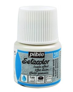 Pebeo Setacolor Opaque Suede Effect Fabric Paint - Antique White