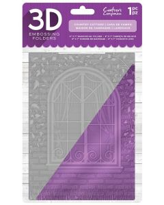 "Crafter's Companion 5""x7"" 3D Embossing Folder - Country Cottage"