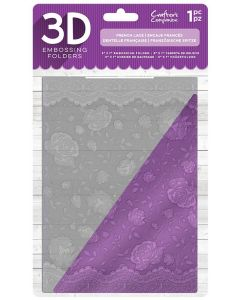 "Crafter's Companion 5""x7"" 3D Embossing Folder 5""x7"" - French Lace"