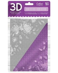 "Crafter's Companion 5""x7"" 3D Embossing Folder - Rambling Rose"