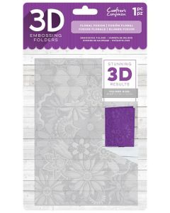 "Crafter's Companion 3D Embossing Folder 5""x7"" - Floral Fusion"