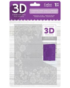 "Crafter's Companion 3D Embossing Folder 5""x7"" - Flourishing Frame"