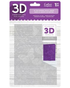 "Crafter's Companion 3D Embossing Folder 5""x7"" - In the Garden"