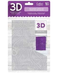 """Crafter's Companion 3D Embossing Folder 5""""x7"""" - Zen Garden"""