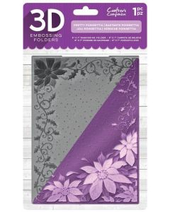 "Crafter's Companion 5""x7"" 3D Embossing Folder - Pretty Poinsettia"