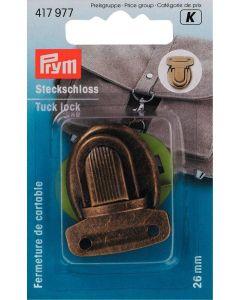 Prym Antique Brass 26mm Tuck Lock Fastening