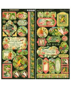 Graphic 45 Lost in Paradise - Stickers