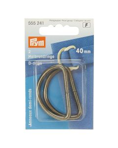 Prym Antique Silver 40mm D-Rings