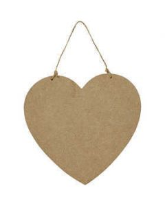Creativ Large Wooden Heart Door Sign