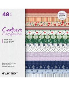Crafter's Companion 6 x 6 Printed Paper Pad - Decorative Christmas