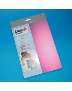 Craft UK 5 Sheets Mirror Board - Lilac