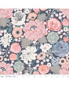 Riley Blake Edie Jane fabric - Main Navy