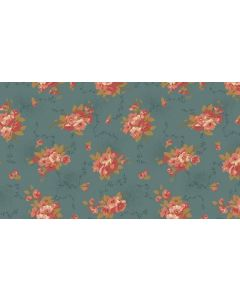 Makower Edyta Sitar Bed of Roses - Dahlia Dusty Blue