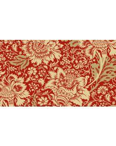Makower Riviera Rose fabric - Jacobean Red