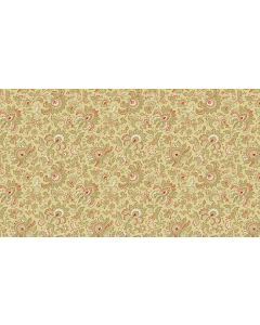 Makower Riviera Rose fabric - Small Jacobean Tan