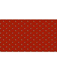 Makower Riviera Rose fabric - Dotty Vines Red