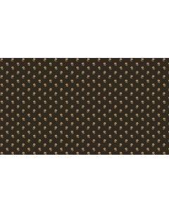 Makower Riviera Rose fabric - Set Daisies Black