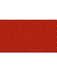 Makower Riviera Rose fabric - Moonflowers Tossed Red